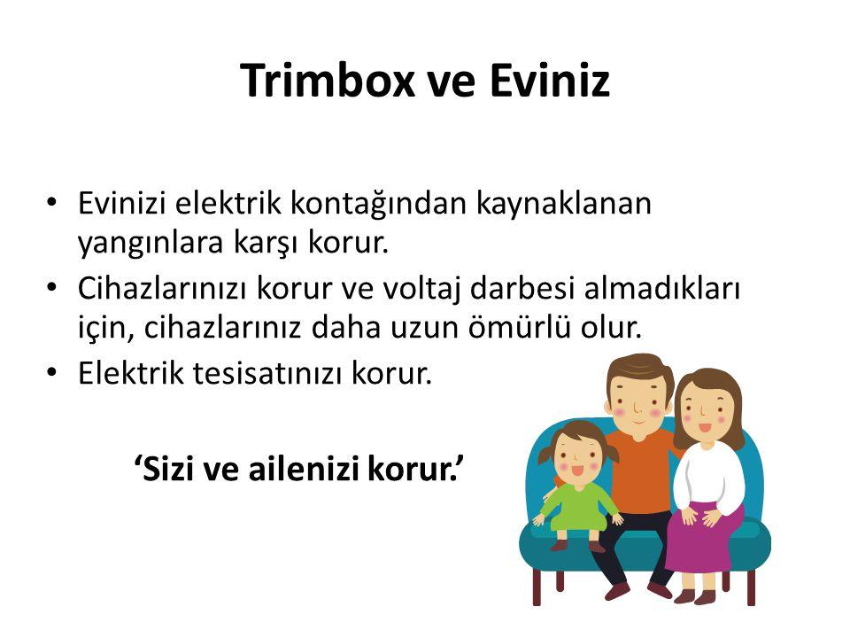 Trimbox ve Eviniz Evinizi elektrik kontağından kaynaklanan yangınlara karşı korur.