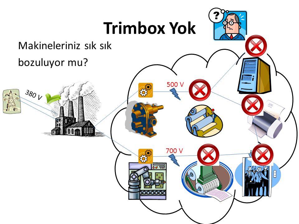 Trimbox Yok Makineleriniz sık sık bozuluyor mu 500 V 380 V 700 V