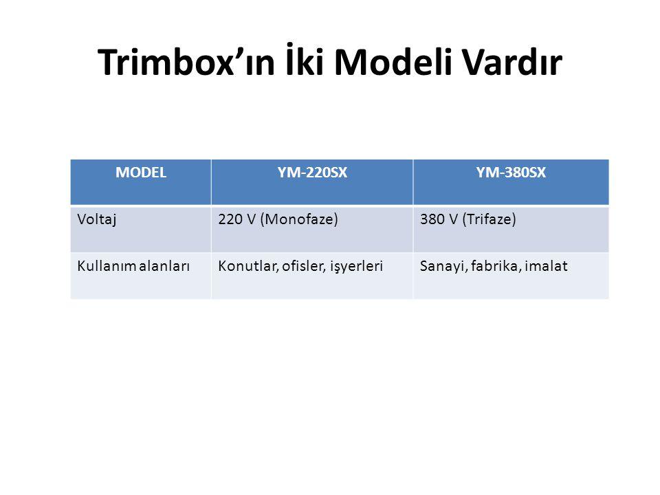 Trimbox'ın İki Modeli Vardır