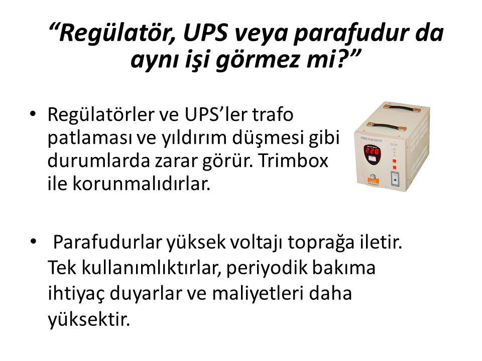 Regülatör, UPS veya parafudur da aynı işi görmez mi