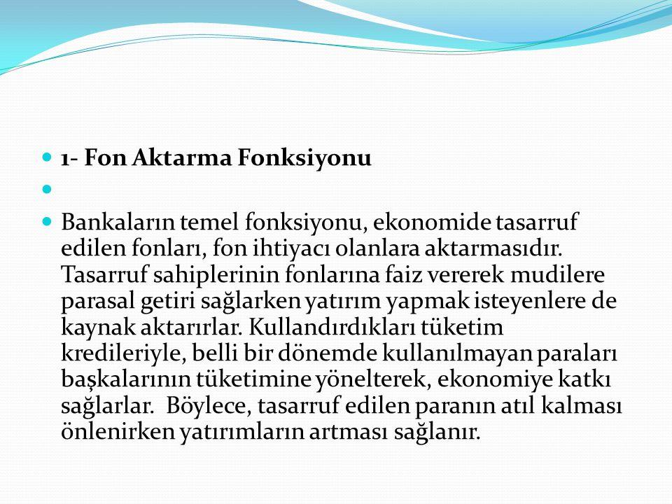 1- Fon Aktarma Fonksiyonu