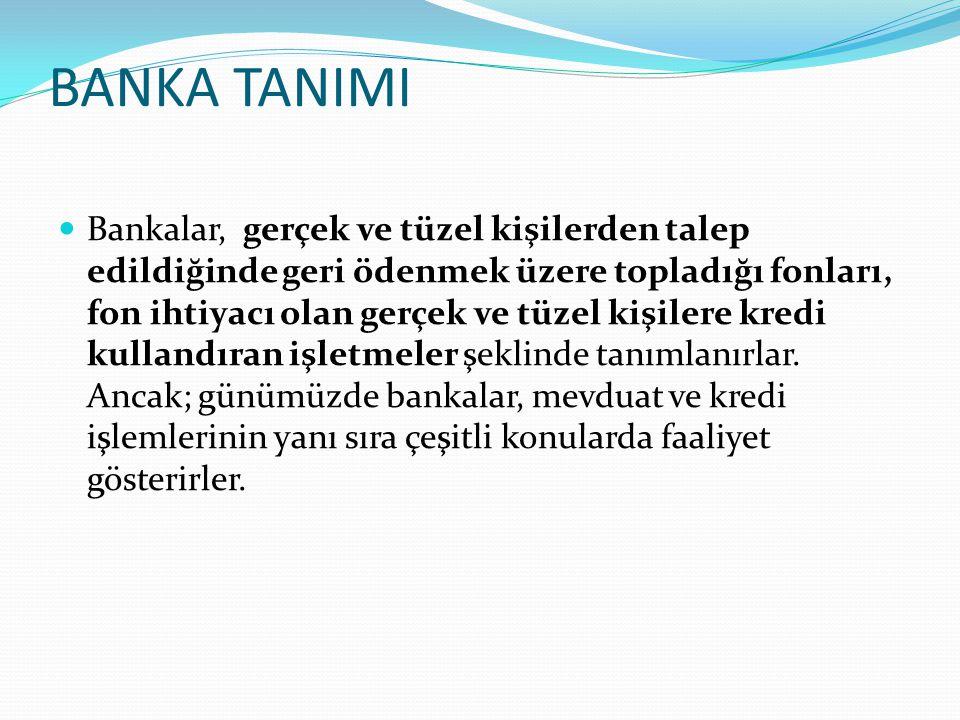 BANKA TANIMI
