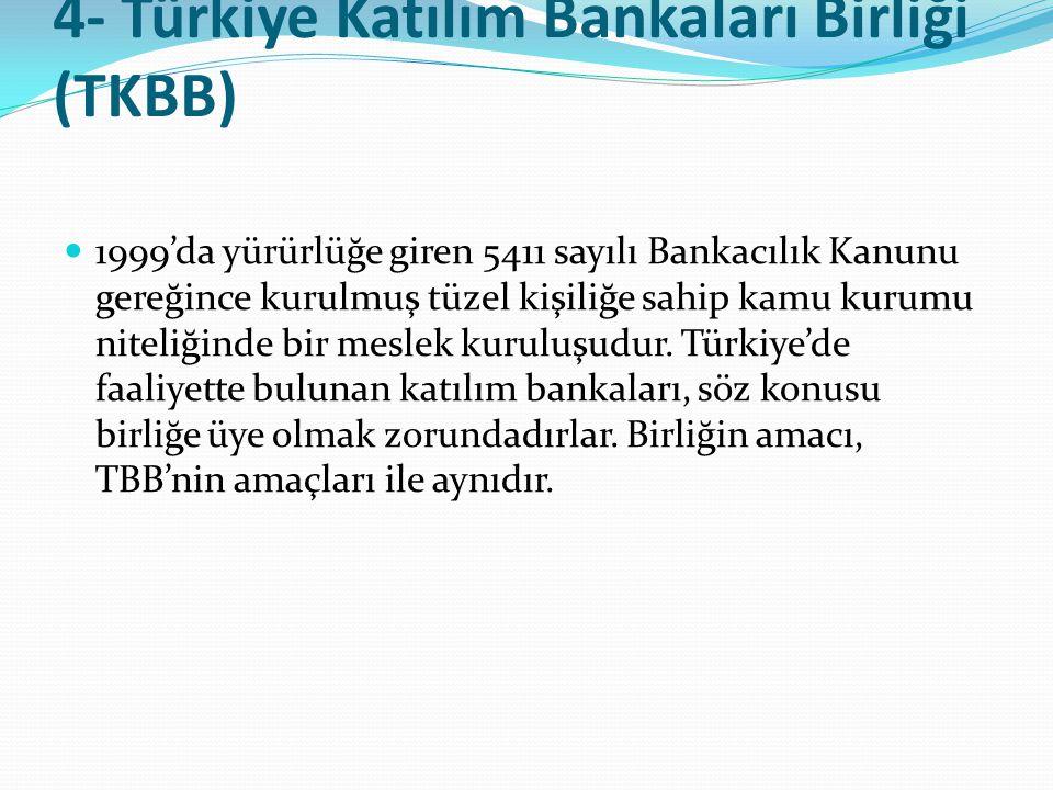 4- Türkiye Katılım Bankaları Birliği (TKBB)