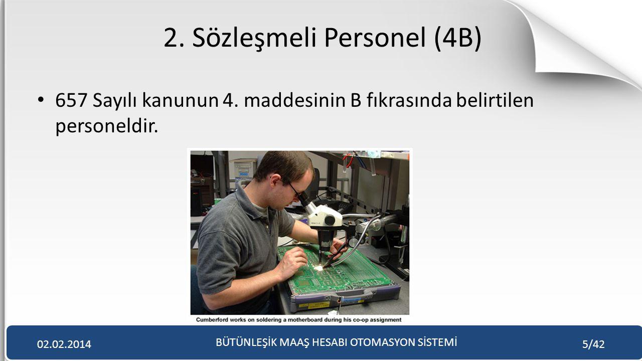 2. Sözleşmeli Personel (4B)