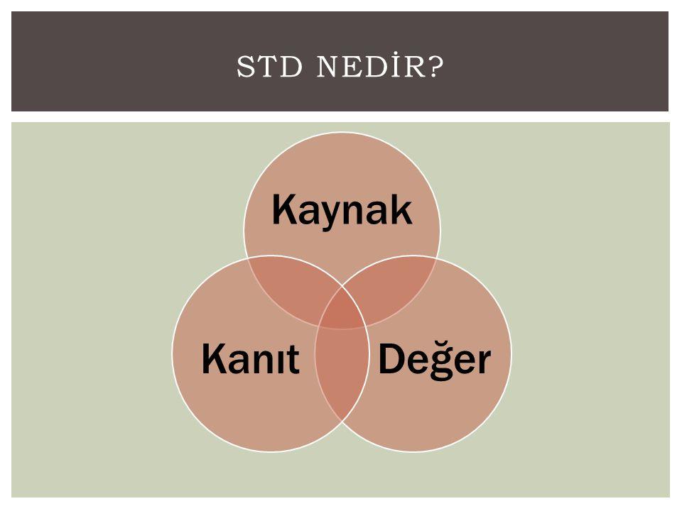 STD Nedİr Kaynak Değer Kanıt