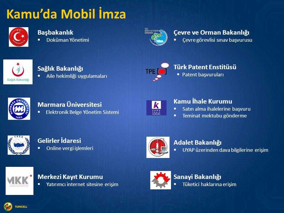 Kamu'da Mobil İmza Başbakanlık Çevre ve Orman Bakanlığı