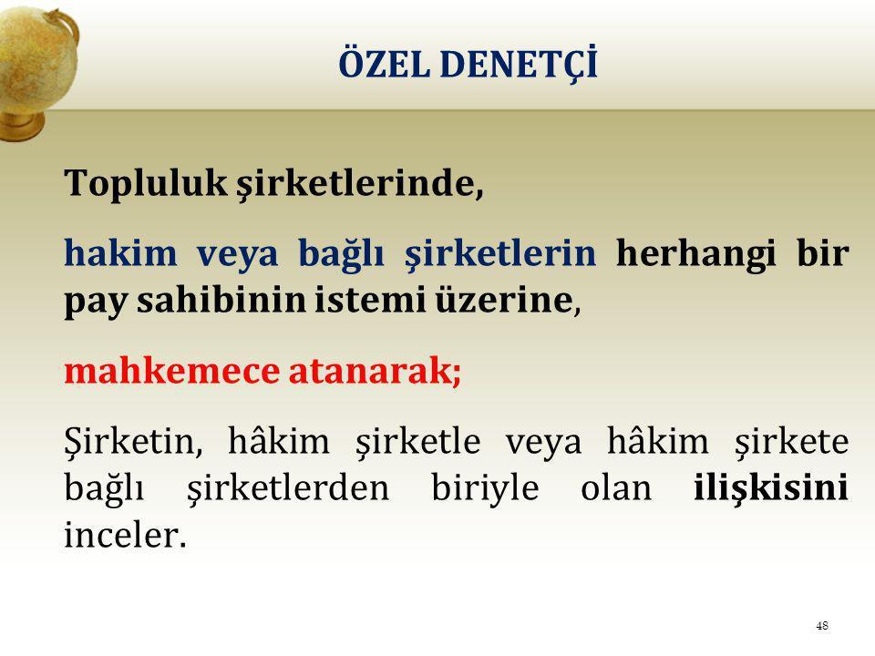 ÖZEL DENETÇİ