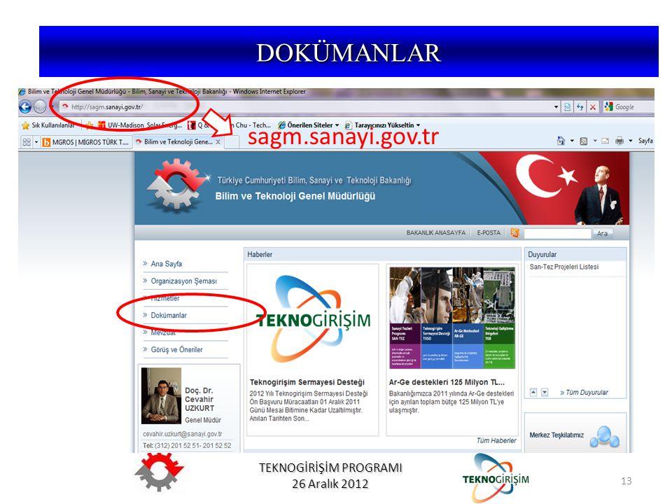 DOKÜMANLAR sagm.sanayi.gov.tr