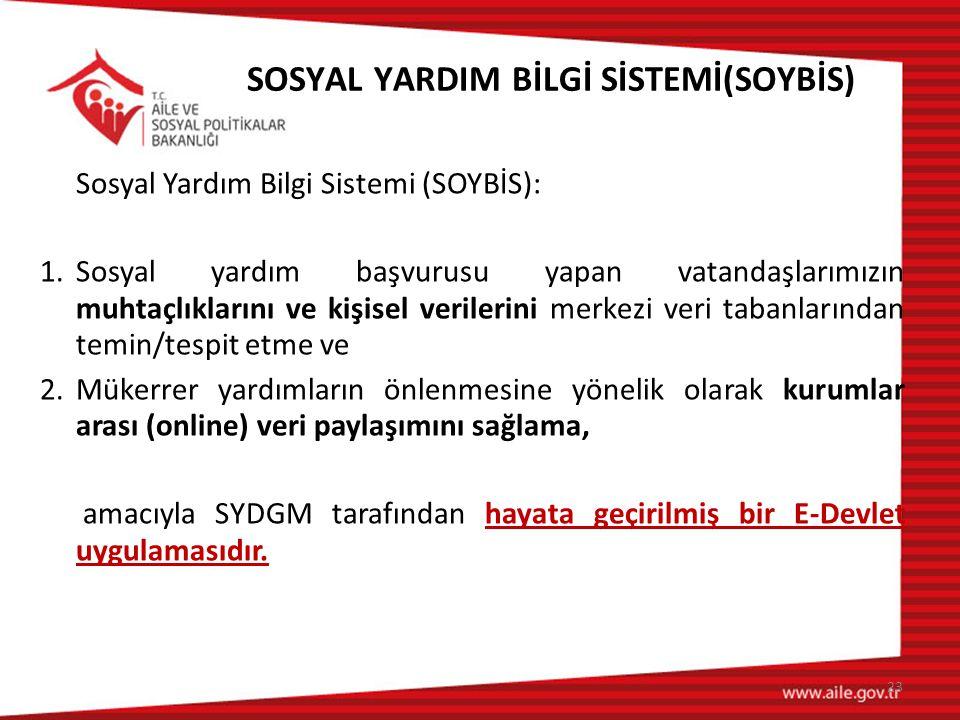 SOSYAL YARDIM BİLGİ SİSTEMİ(SOYBİS)