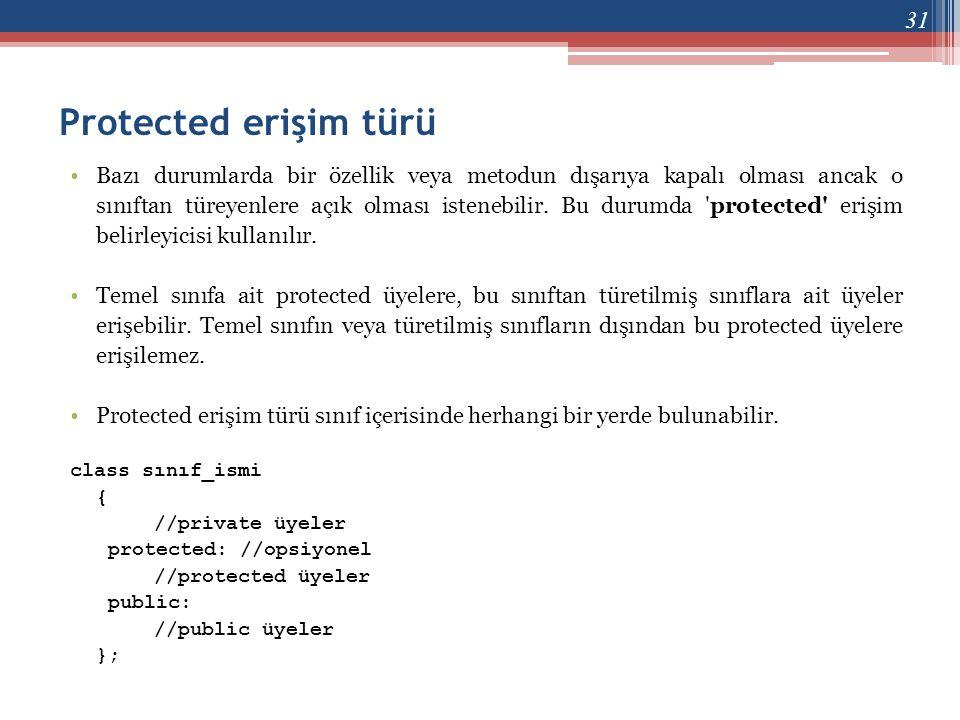 Protected erişim türü