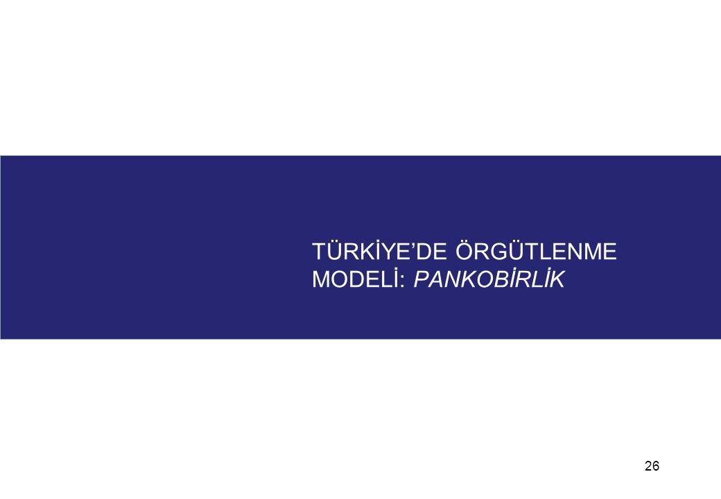 TÜRKİYE'DE ÖRGÜTLENME MODELİ: PANKOBİRLİK