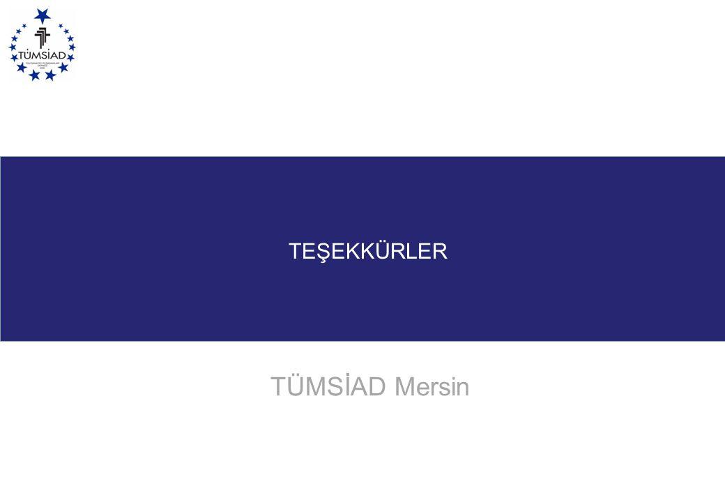TEŞEKKÜRLER TÜMSİAD Mersin www.gsb.gov.tr