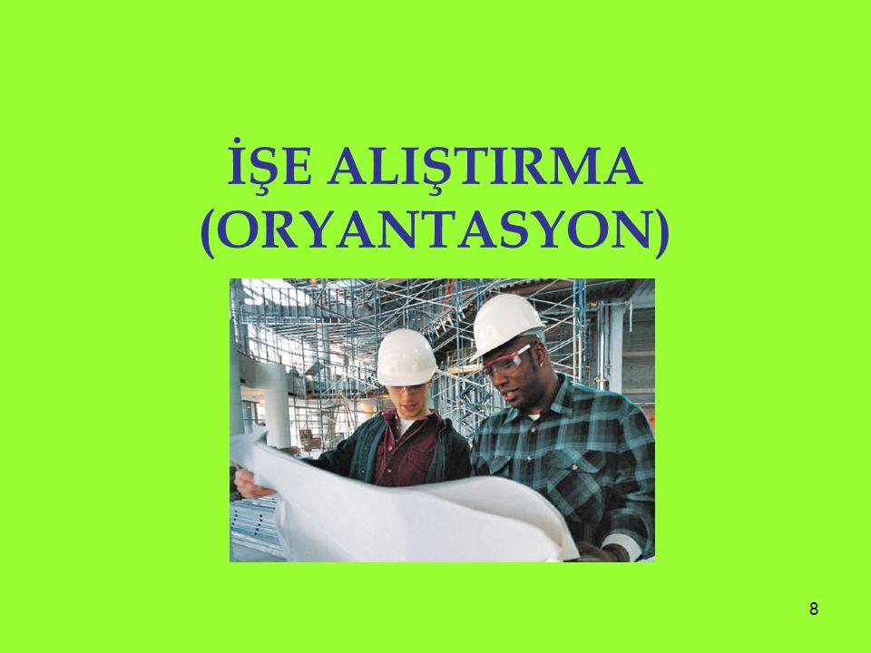 İŞE ALIŞTIRMA (ORYANTASYON)