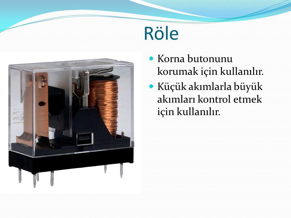 Röle Korna butonunu korumak için kullanılır.