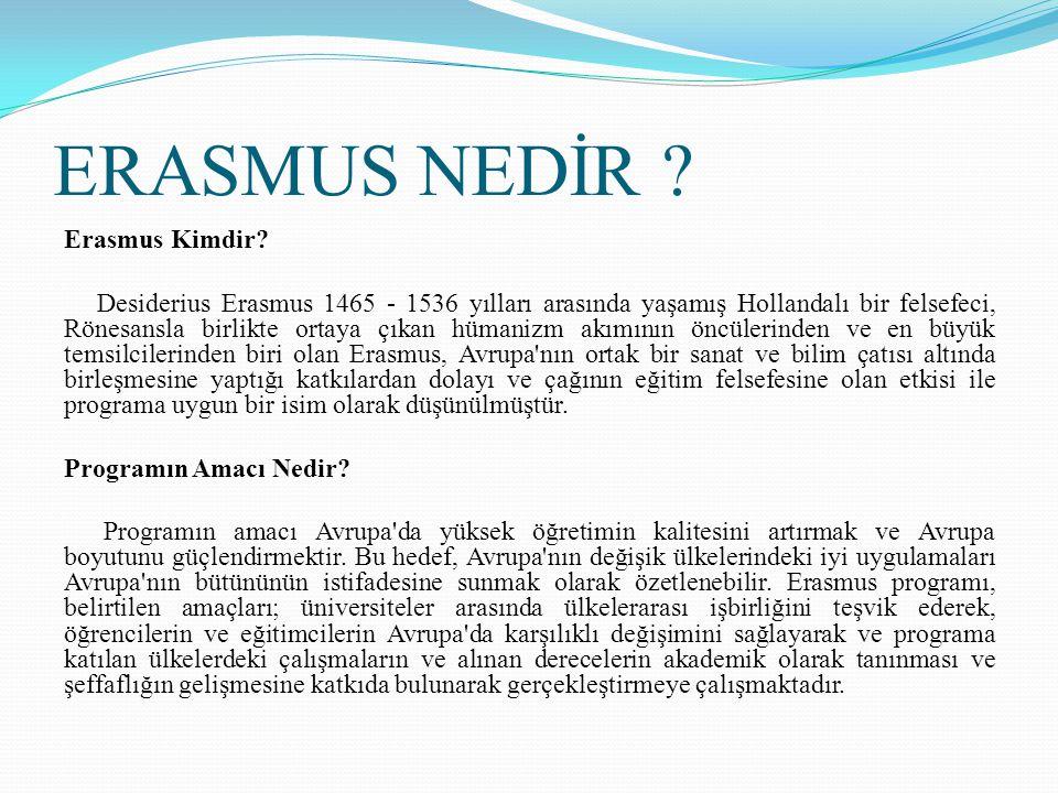 ERASMUS NEDİR Erasmus Kimdir