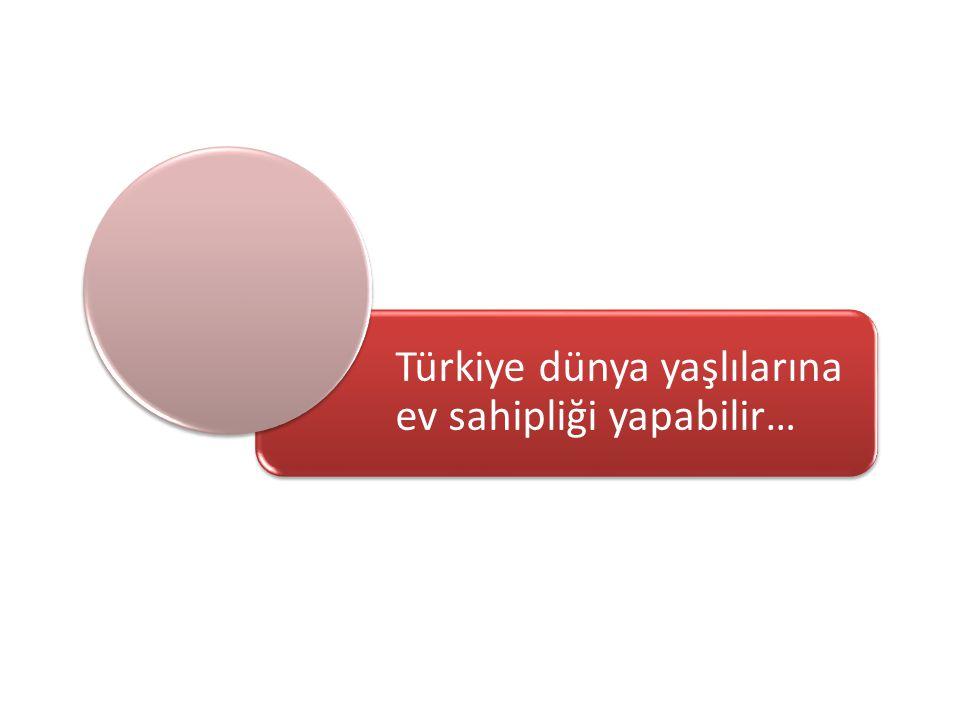 Türkiye dünya yaşlılarına ev sahipliği yapabilir…