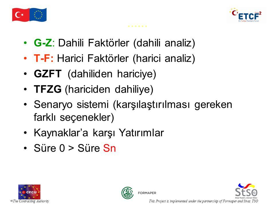 ...... G-Z: Dahili Faktörler (dahili analiz)