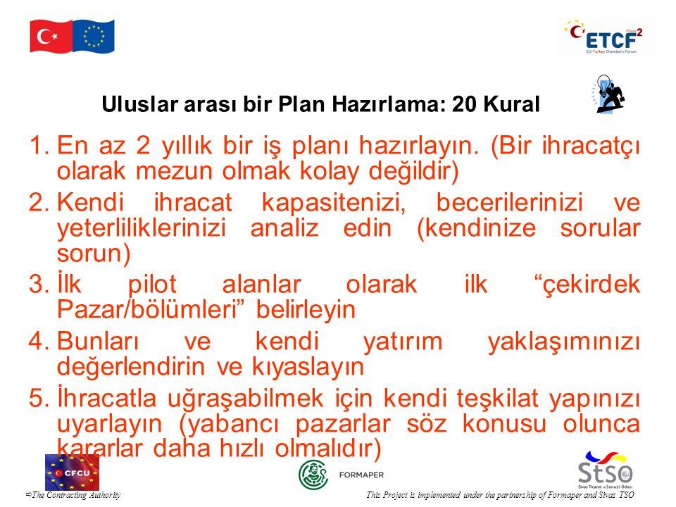 Uluslar arası bir Plan Hazırlama: 20 Kural