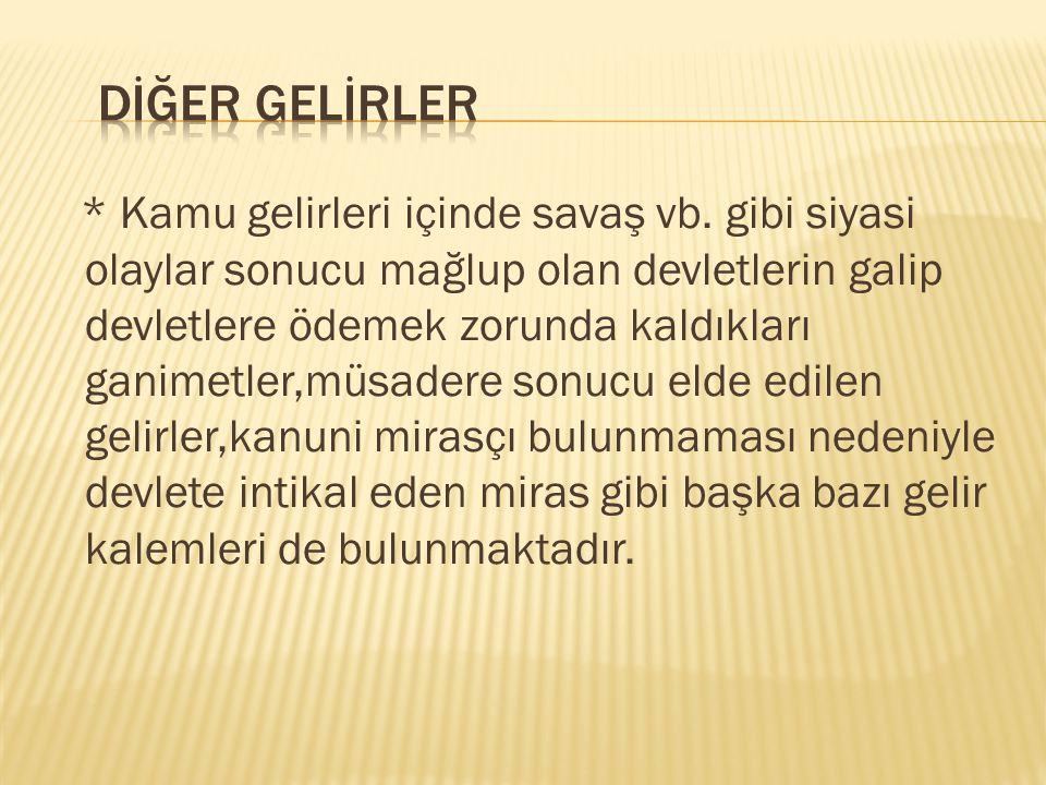DİĞER GELİRLER