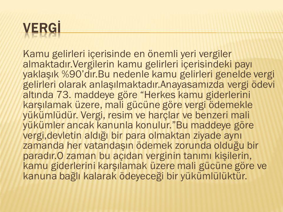 Vergİ