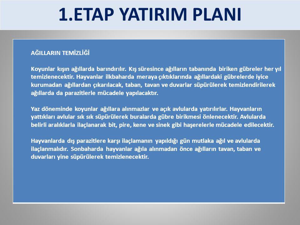1.ETAP YATIRIM PLANI