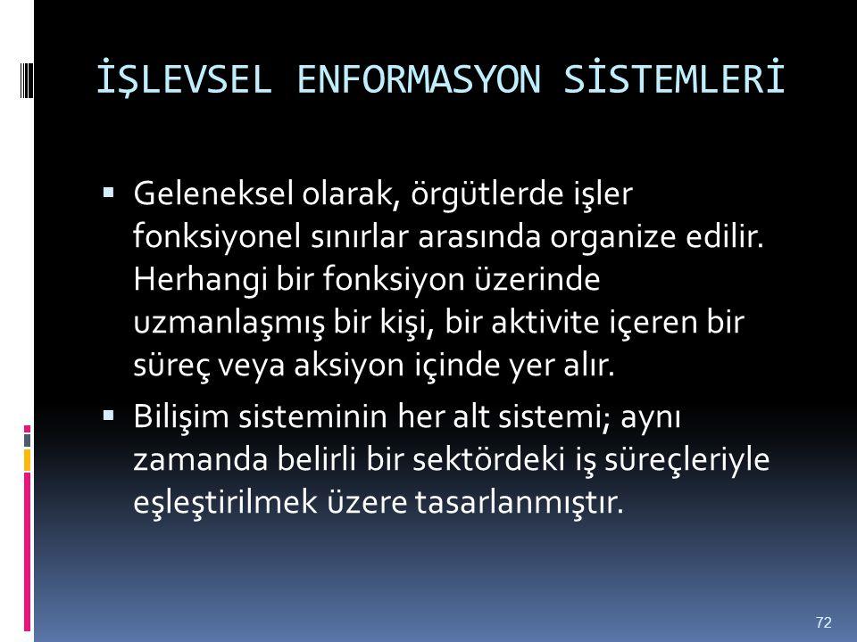 İŞLEVSEL ENFORMASYON SİSTEMLERİ