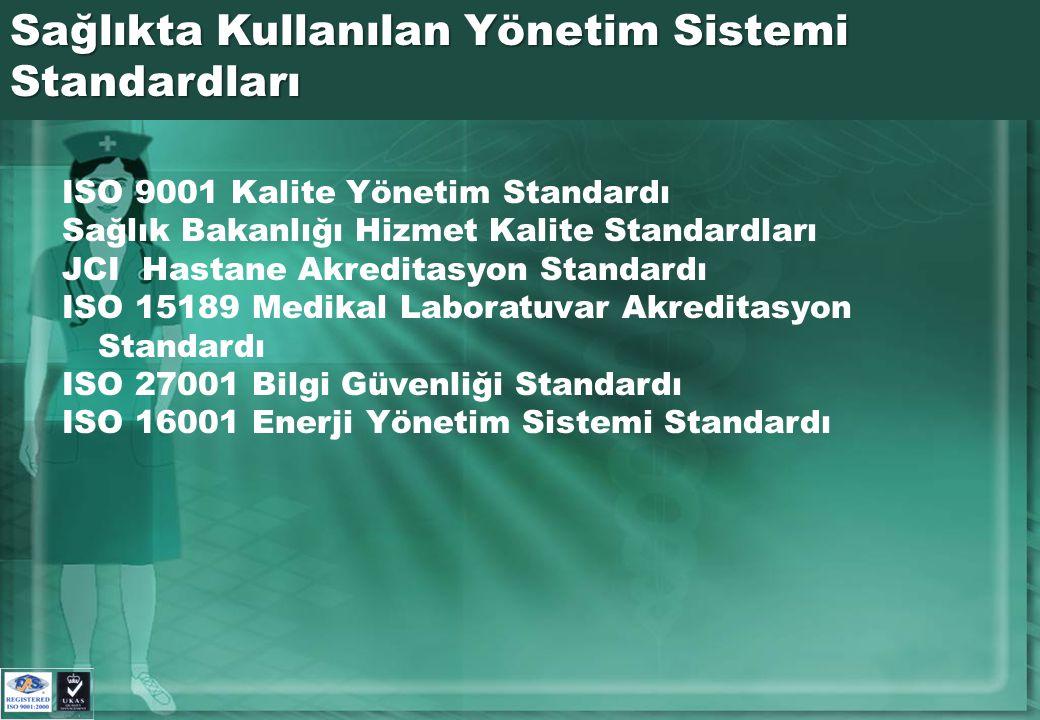 Sağlıkta Kullanılan Yönetim Sistemi Standardları