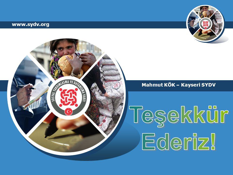 www.sydv.org Mahmut KÖK – Kayseri SYDV Teşekkür Ederiz!