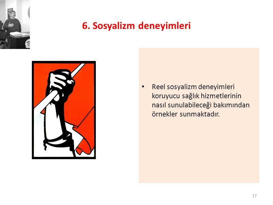 6. Sosyalizm deneyimleri