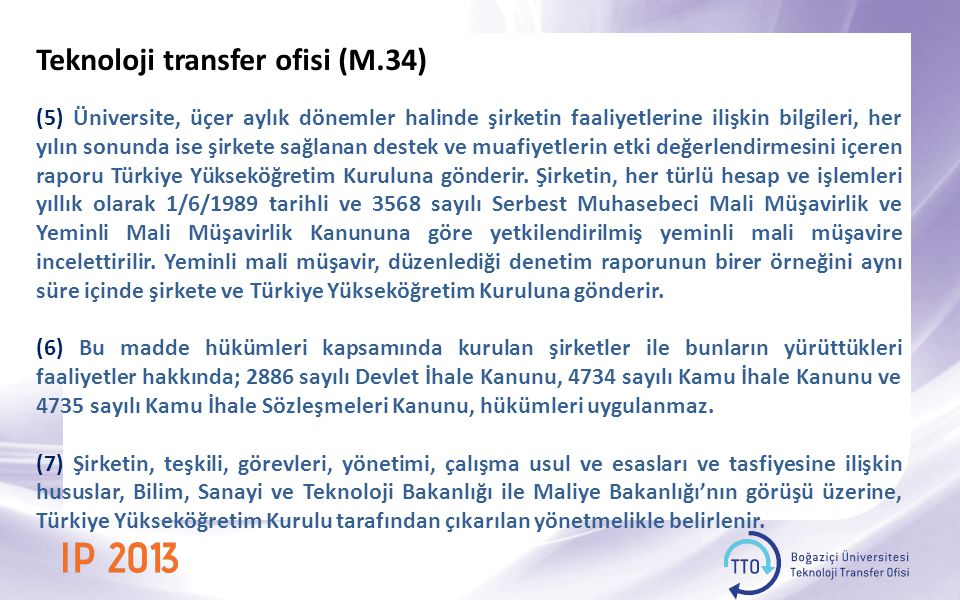 Teknoloji transfer ofisi (M.34)