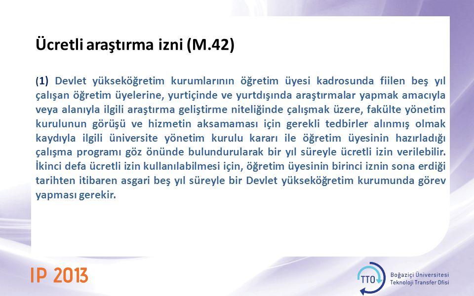 Ücretli araştırma izni (M.42)