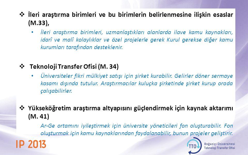 Teknoloji Transfer Ofisi (M. 34)