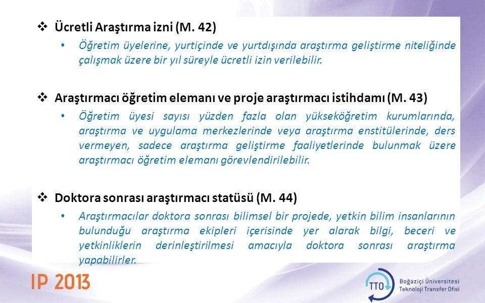 Ücretli Araştırma izni (M. 42)