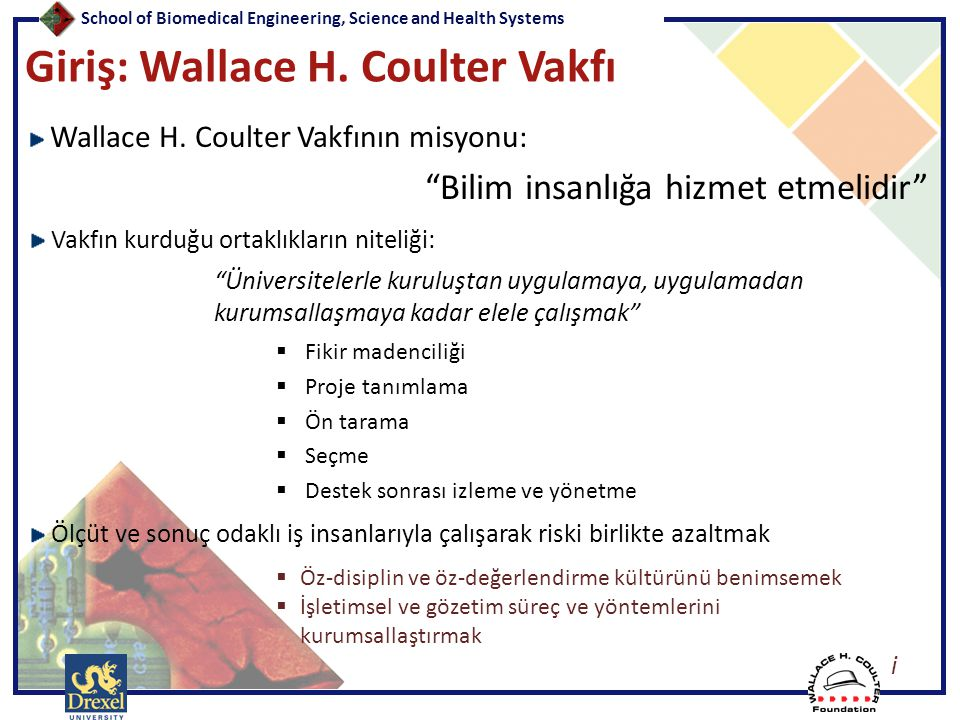 Giriş: Wallace H. Coulter Vakfı