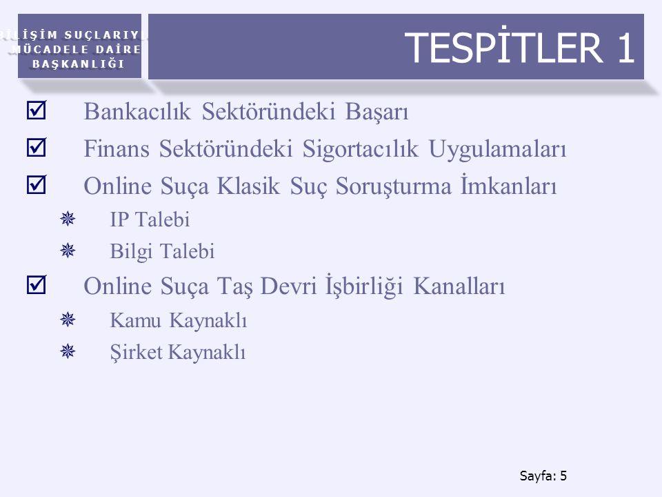 TESPİTLER 1 Bankacılık Sektöründeki Başarı