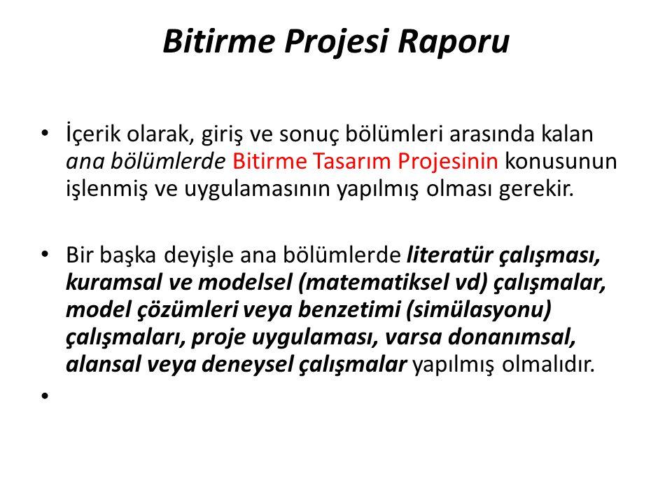 Bitirme Projesi Raporu