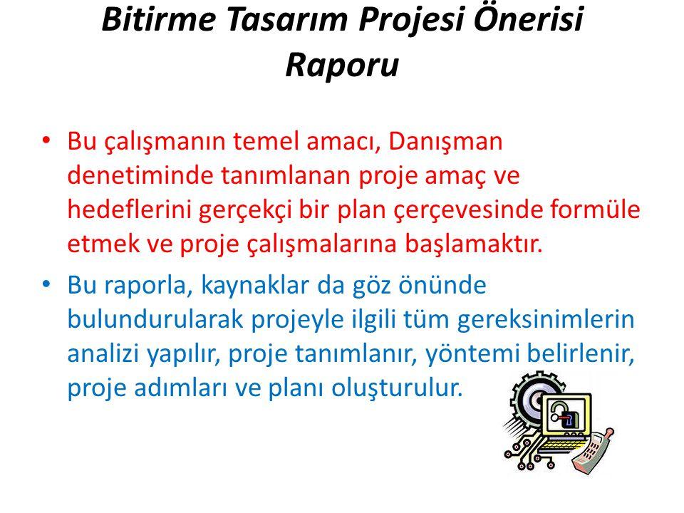 Bitirme Tasarım Projesi Önerisi Raporu