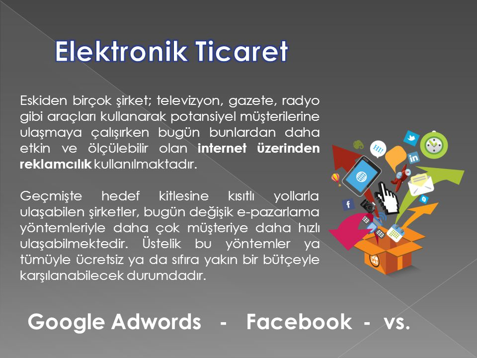 Elektronik Ticaret Google Adwords - Facebook - vs.