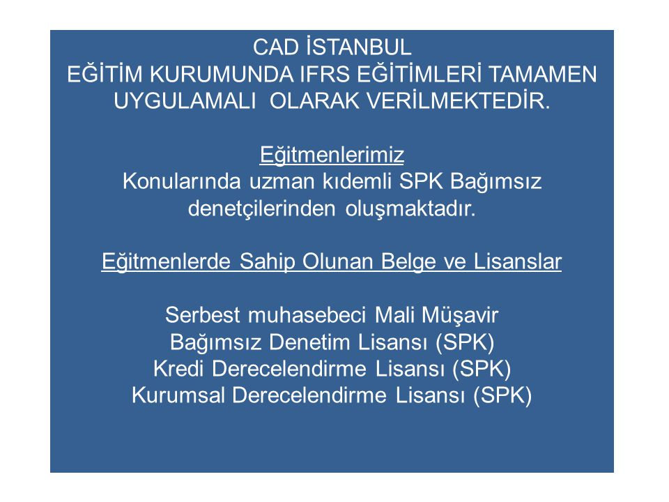 Konularında uzman kıdemli SPK Bağımsız denetçilerinden oluşmaktadır.