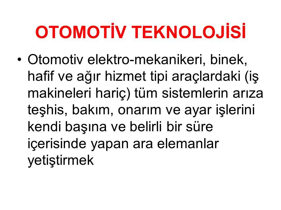 OTOMOTİV TEKNOLOJİSİ