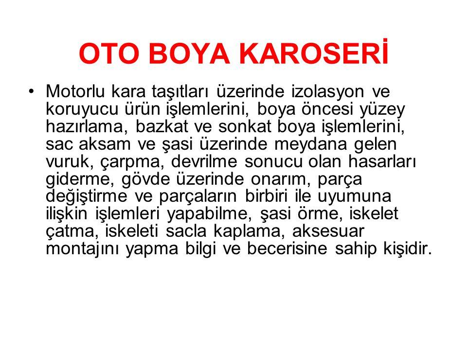 OTO BOYA KAROSERİ