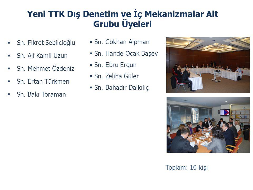 Yeni TTK Dış Denetim ve İç Mekanizmalar Alt Grubu Üyeleri