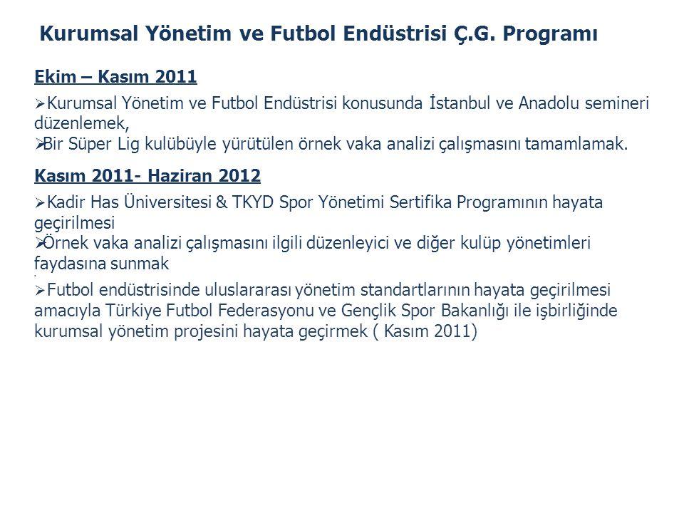 Kurumsal Yönetim ve Futbol Endüstrisi Ç.G. Programı