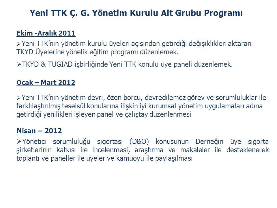 Yeni TTK Ç. G. Yönetim Kurulu Alt Grubu Programı