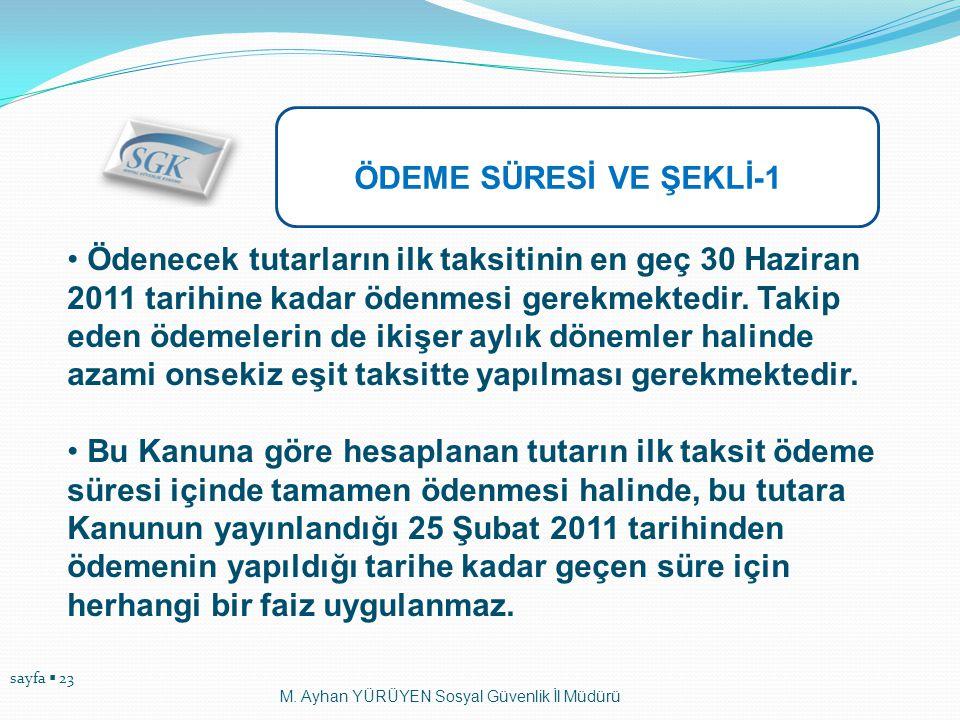 ÖDEME SÜRESİ VE ŞEKLİ-1