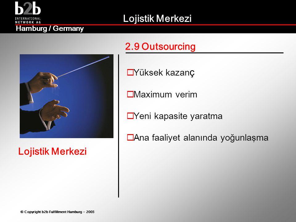 2.9 Outsourcing Yüksek kazanç Maximum verim Yeni kapasite yaratma