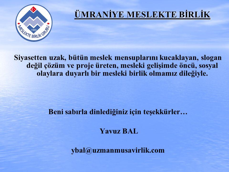 ÜMRANİYE MESLEKTE BİRLİK