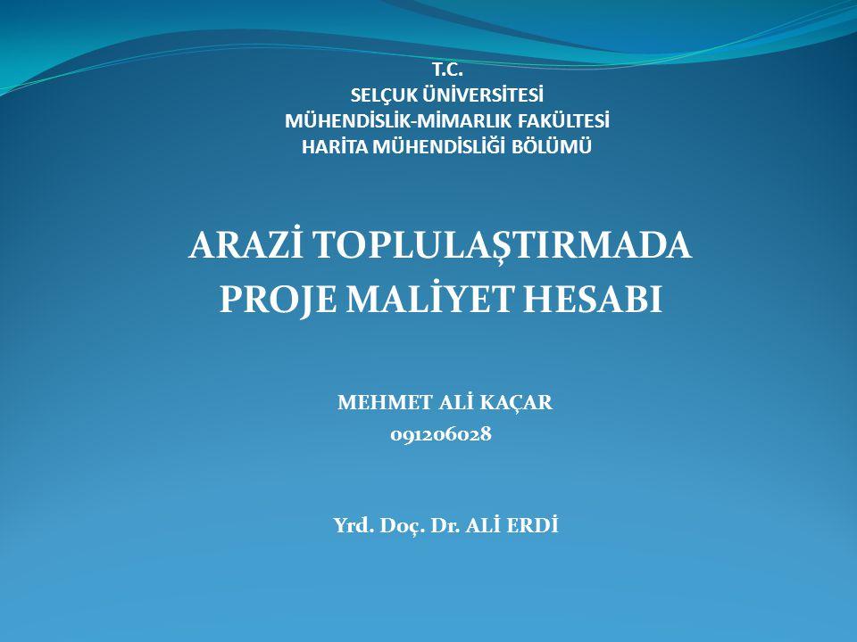 ARAZİ TOPLULAŞTIRMADA