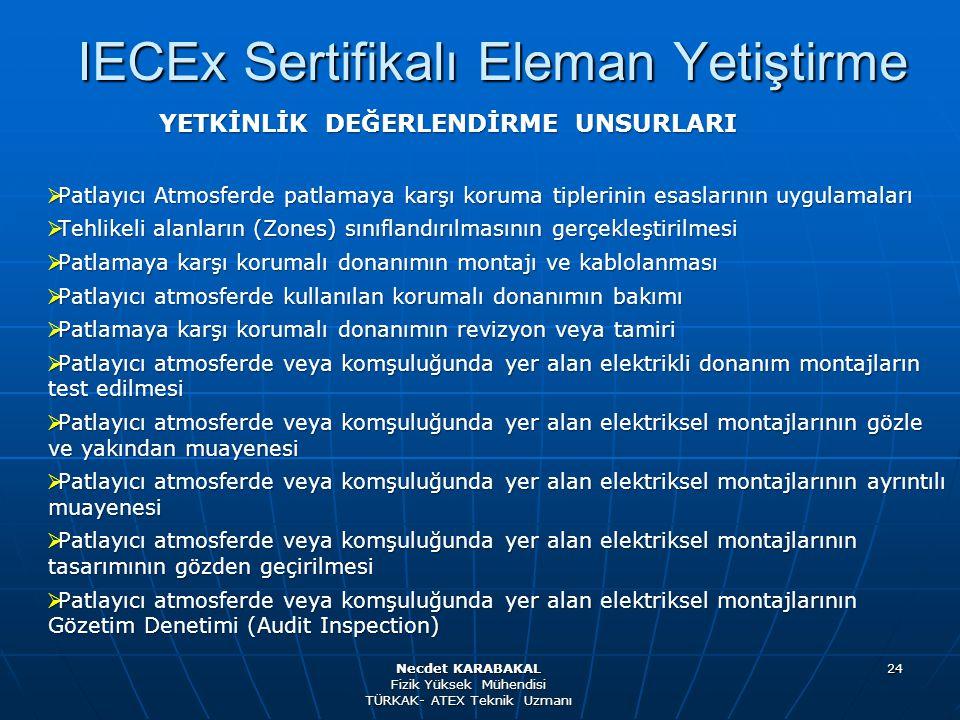IECEx Sertifikalı Eleman Yetiştirme