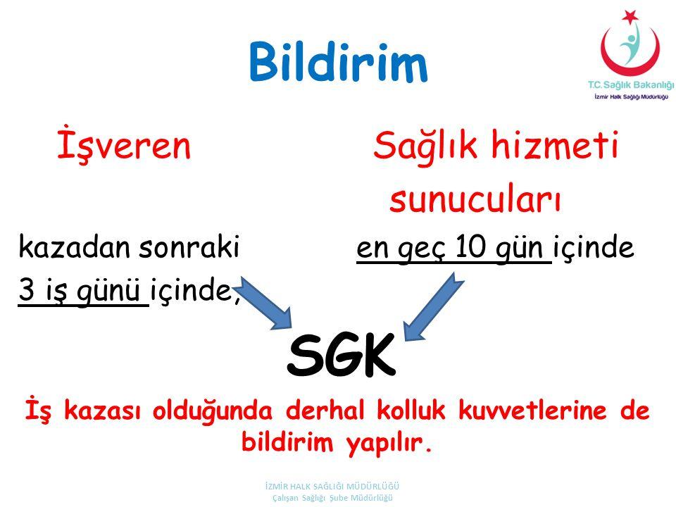 SGK Bildirim sunucuları İşveren Sağlık hizmeti